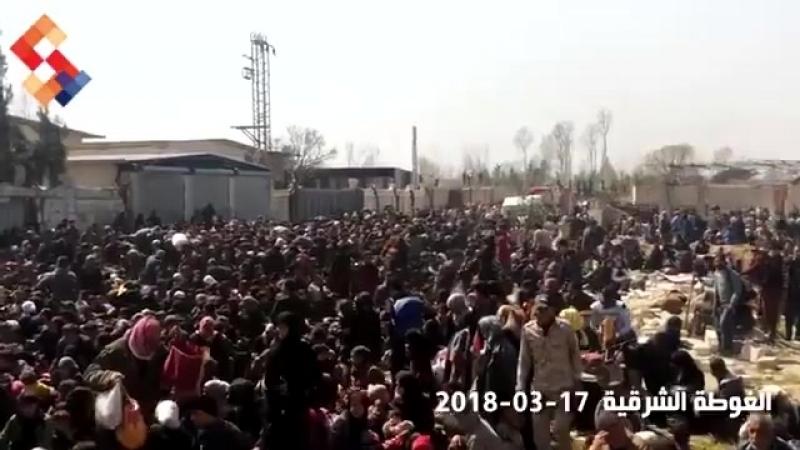 Более 40 000 мирных жителей вышли из Восточной Гуты