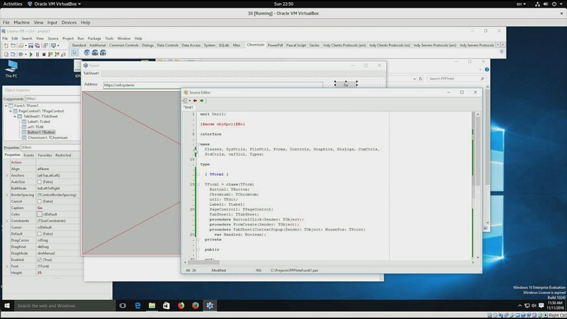 Embedded Chromium browser fpCef3 in Lazarus IDE