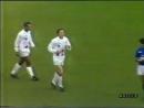 Мяч Олега Блохина в матче сборной мира против сборной Италии 1988 год