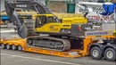 AWESOME RC Truck Excavator heavy transport!