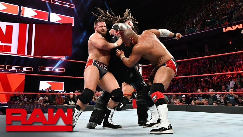 B Team vs Deleters of Worlds vs The Revival Raw Tag Title Triple Threat Match Raw Aug 13 2018