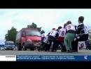 Первомайские силачи соревновались в перетягивании автомобилей