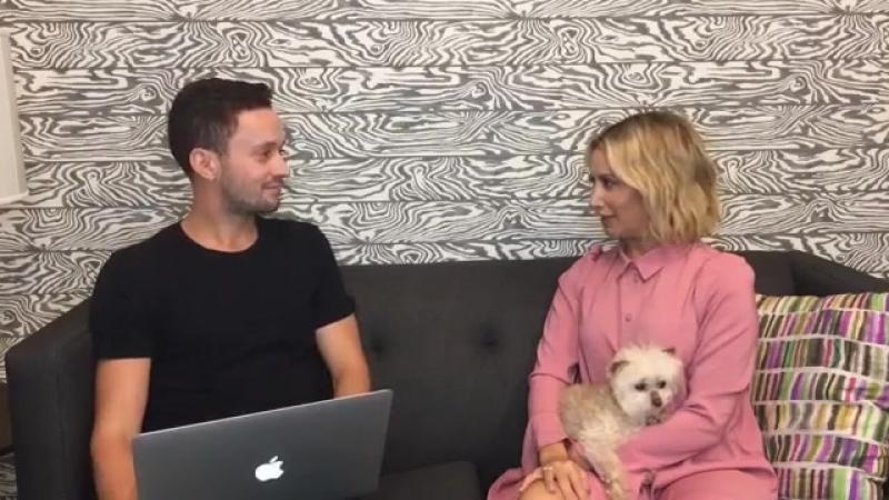 Ashley Tisdale AOL Live (Interview)