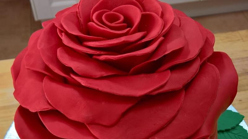 Tort róża, Rose cake, Róża 3D, piękny tort urodzinowy