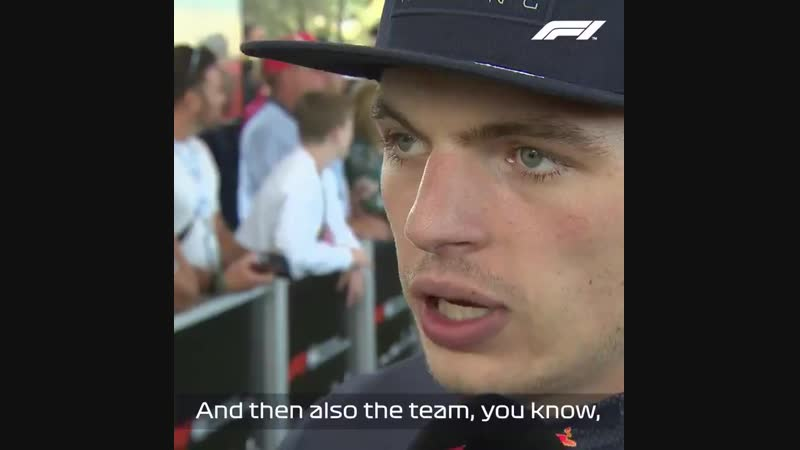 USA 2018: Max Verstappen reacts to finishing P2