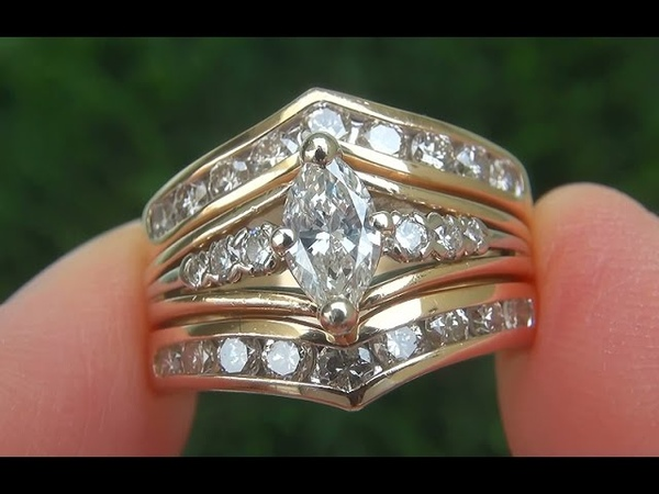 Certified Jewelry Natural SI2H Untreated Diamond Engagement Wedding 14k Yellow Gold Ring - C652