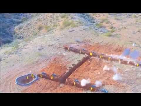 Работа автоматической пушки по пехоте осколочно-фугасными