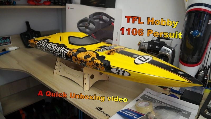 Unboxing TFL Hobby 1106 Persuit RC Speed Boat