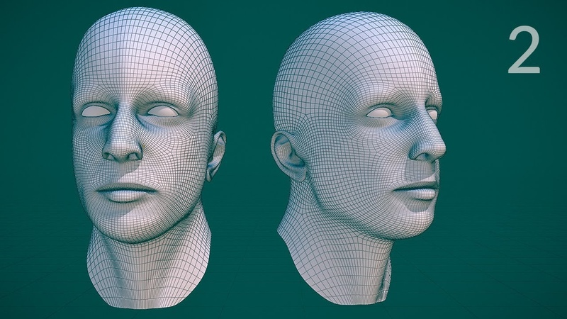 CGC Classic: Edge Modeling a Human Head - Pt.2 (Blender 2.4)