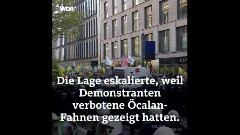 Öcalan-Demo Düsseldorf