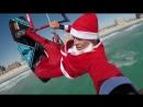 Merry X-Mas ! Новогоднее поздравление от Кевина Лангери - про райдера Naish - Kitesurfing Santa KEVVLOG 37