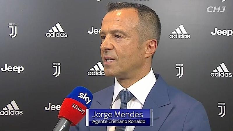 MENDES CR7 il più forte della storia della Juve, che con lui può finalmente vincere la Champions