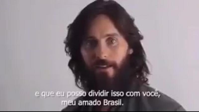 Jared Leto speaking Portuguese ♡ ARW
