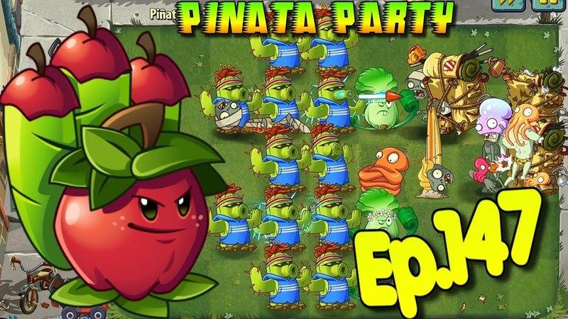 Plants vs. Zombies 2 - Pinata Party with Premium Plants (Cactus, Apple Mortar, Lava Guava) Ep.147