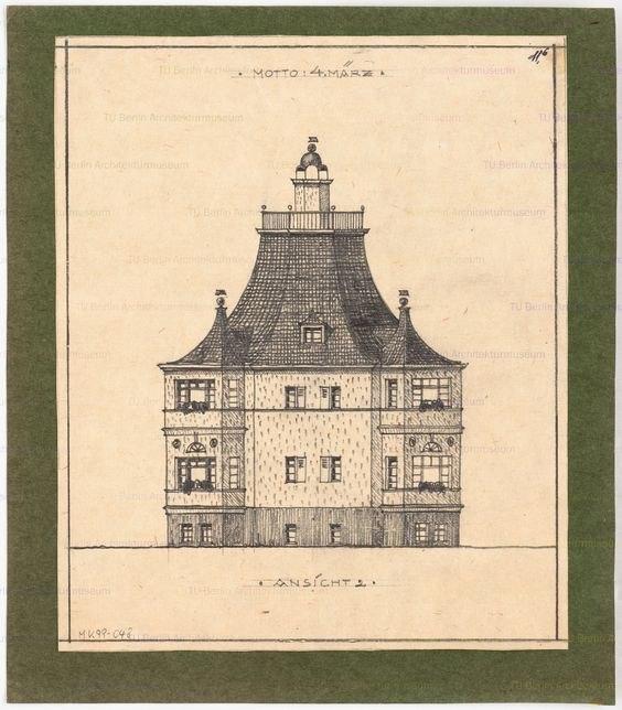 Achteckiges Einfamilienhaus.
