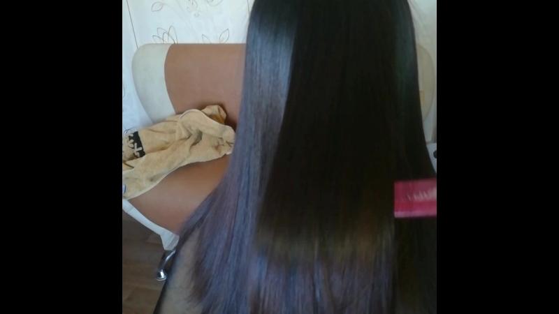 Кератиновое выпрямление волос для Кати!