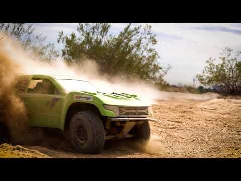 Axial Yeti SCORE Trophy Truck Flying through the Vegas Desert
