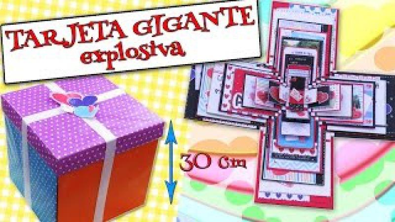 TARJETA GIGANTE Explosiva - AMOR, Felicitaciones, DÍAS ESPECIALES