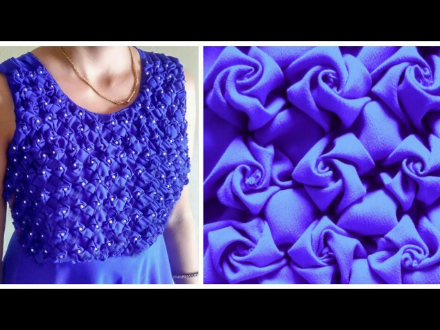 Low and High Smocking Frock (Rose Design)