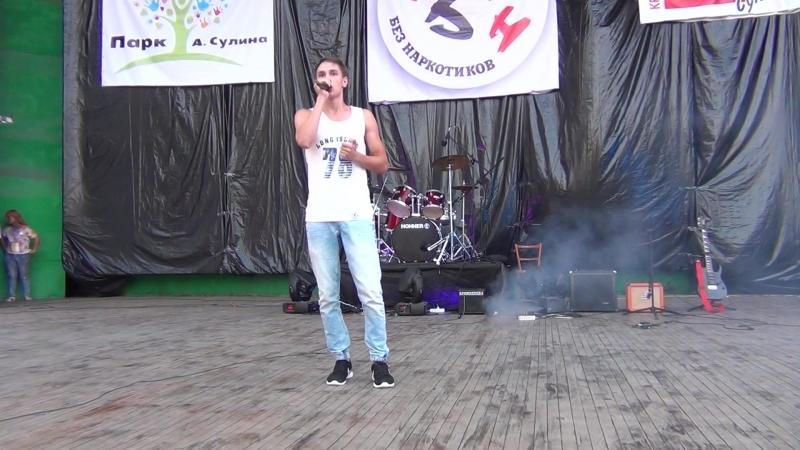 Третий фестиваль Сулин Без Наркотиков 2016, часть вторая. Бит-боксер Олег Калинин