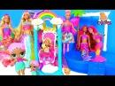 КУКЛА ЛОЛ ГОТОВИТ ВЕЧЕРИНКУ! ФЕИ И ПРИНЦЕССЫ - БАРБИ DREAMTOPIA! Видео для Детей - Игрушки