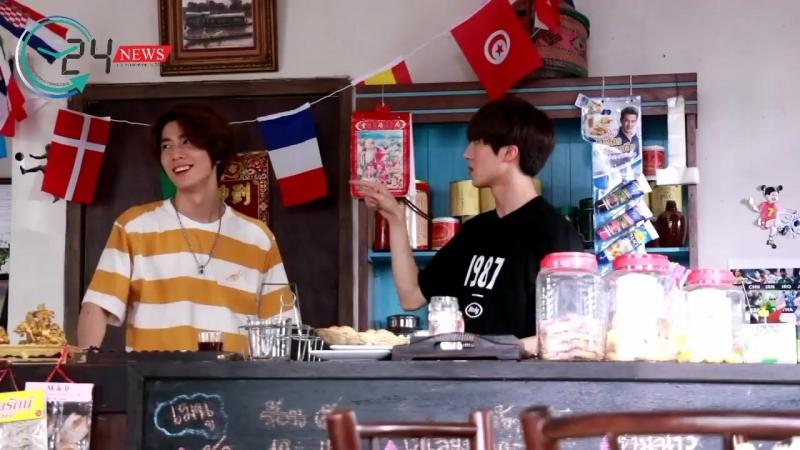 180522 SF9 Hwiyoung and Chani on the set of 'Coffee House 4.0' by Twentyfournews