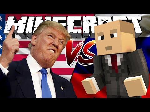 ►Путин Vs ТРАМП Minecraft