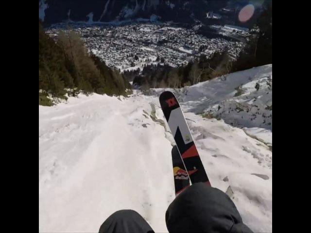 "Red Bull on Instagram: ""Oh Mount dieu. 🏃♂: @valentindelluc speedriding freeski paragliding glide chamonix france gopro"""