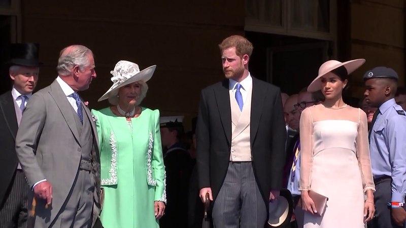 Герцог и герцогиня Сассекс, принц Гарри и Меган, посещают 70-летие принца Чарльза