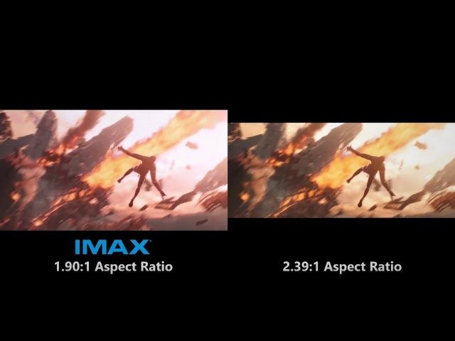 Avengers: Infinity War - IMAX Trailer vs. Regular Trailer Aspect Ratio/Color Change Comparison [4K]