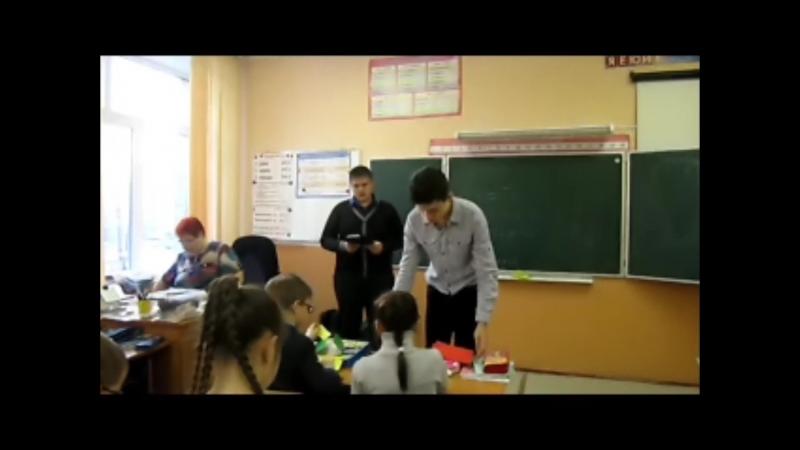 Лапшенков Денис, Понкратов Илья, 8б. Мастер-класс по изготовлению открытки ко Дню Защитника Отечества