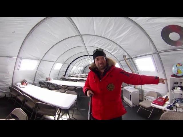 \В Антарктиде - экскурсия 360 градусов по антарктическому лагерю Mamontcup2018