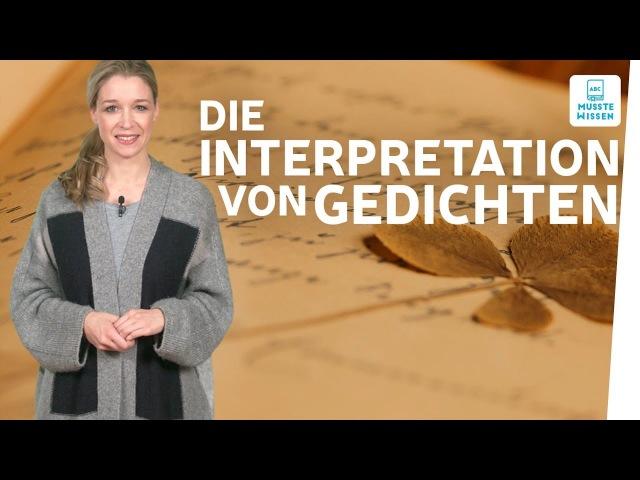 Wie schreibe ich eine Gedichtanalyse I musstewissen Deutsch