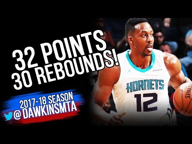 Dwight Howard Full Highlights 2018.3.21 Charlotte Hornets at Nets - 32-30, MONSTER! | FreeDawkins
