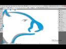 Adobe Illustrator. Рисуем белого медведя с помощью инструмента Width Tool. (Бори