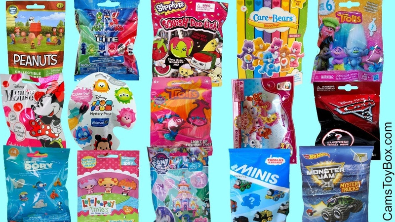 Toys Blind Bags Opening Minnie Mouse Squish Dee Lish Shopkins Peanuts Finding Dory PJ Masks