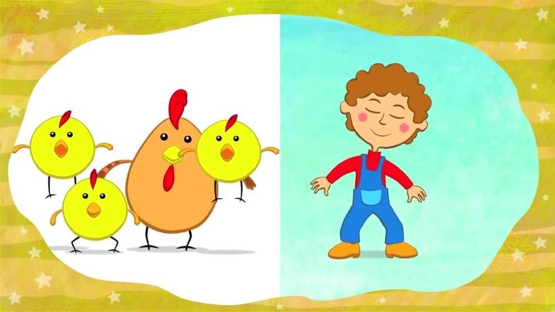 ПТИЧКИ -с мальчиком СИНИЙ ТРАКТОР Развивающая песенка мультик для детей малышей Синий трактор Ворона курица воробей попугай_m