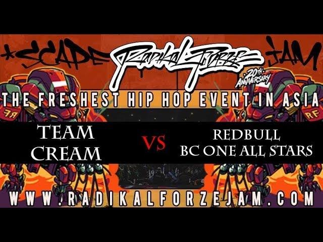 TEAM CREAM vs RED BULL BC ONE ALL STARS | FINAL BBOY 4on4 | RADIKAL FORZE JAM 2018