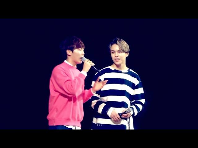 (Eng Sub) 151108 Seventeen Vernon Seungkwan's cute rap battle