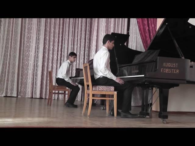 Интермеццо М Таривердиев для 2 роялей Лезгинка А И Хачатурян С Назаров 8 рук
