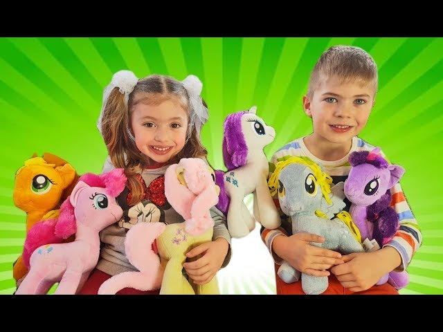 Funny Baby Learn Colors My Little Pony toys Nursery Rhymes Songs for kids