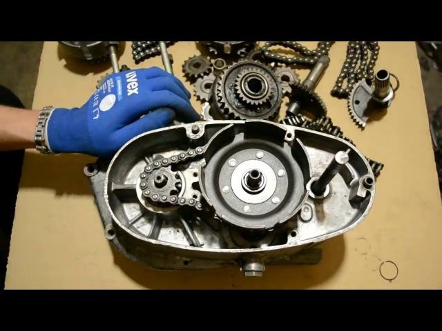 Как увеличить тягу мотоцикла Восход, Сова Установка моторной передачи от Минска.