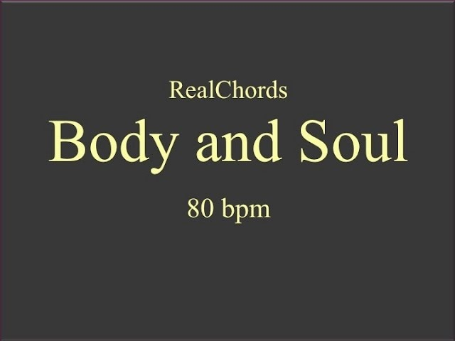 Body and Soul Backing Track