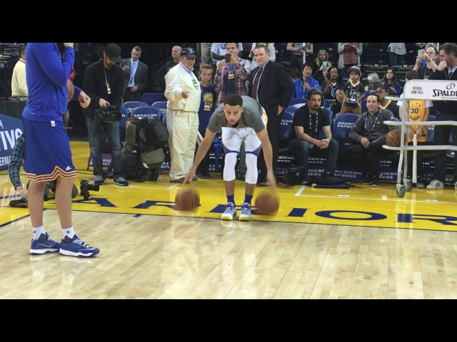Stephen Curry's Full Pre Game Routine for Trail Blazers Warriors