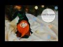 Кукла новогодний гномик в чулочной технике Christmas Gnome DIY Tutorial
