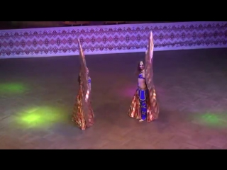 Арина Белова Дарья Коваль ☀ Show Belly dance FINAL Duet ☀ Ukrainian Oryantal D 19082