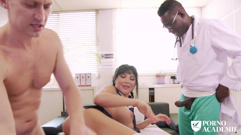 Valentina Ricci Hot school girl enjoys hot MMF threesome in doctors