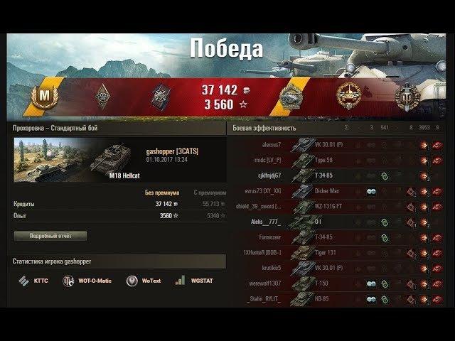 World of Tanks Мега крутой нагиб M18 Hellcat Artist Play