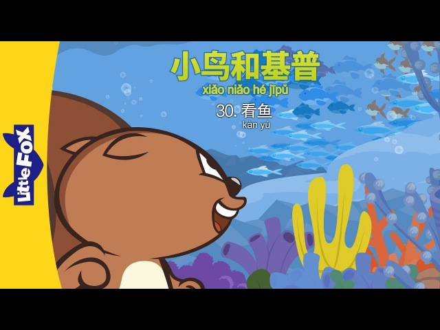 Bird and Kip 30: Looking at Fish (小鸟和基普 30:看鱼)   Level 2   Chinese   By Little Fox