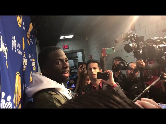 Draymond Green Postgame Interview GS Warriors vs Blazers